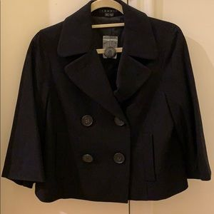 Theory cropped coat blazer black new